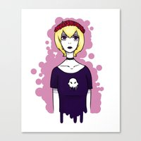 homestuck Canvas Prints featuring Homestuck Rose by ghostly-fail