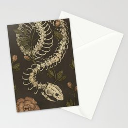 Snake Skeleton Stationery Cards