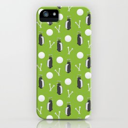 Golf equipment pattern iPhone Case