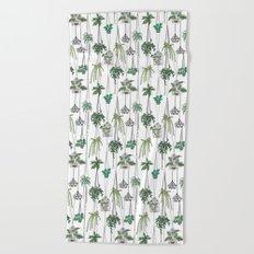 hanging pots pattern Beach Towel