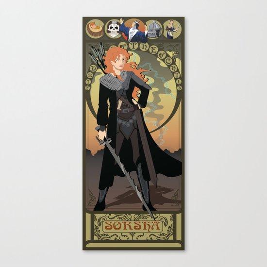 Sorsha Nouveau - Willow Canvas Print