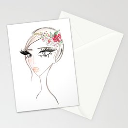 Flowers in  the hair Stationery Cards
