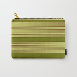 Lime and Yellow Ombre Stripes Carry-All Pouch