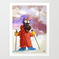 Mountain scottie Art Print