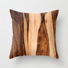 Sheesham Wood Grain Texture, Close Up Throw Pillow