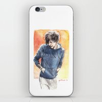 cyrilliart iPhone & iPod Skins featuring Orange and Blue by Cyrilliart