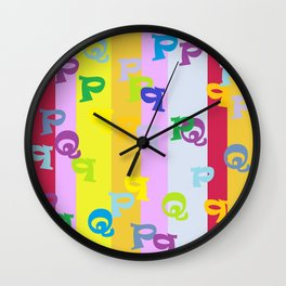 Mind Your P's and Q's Wall Clock