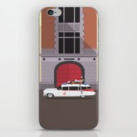 ghostbusters iPhone & iPod Skins featuring Ghostbusters HQ by Michael Walchalk