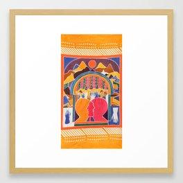 INWARD TURN Framed Art Print