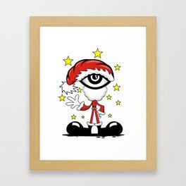 Eye Christmas Framed Art Print