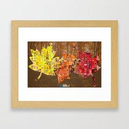 Literary Leaves Framed Art Print