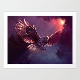 Strix owl Art Print
