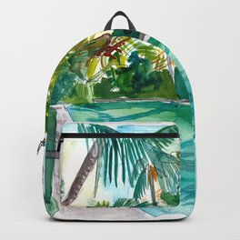 The Cool Quiet Key West Florida Pool Backpack