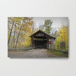 Whites Covered Bridge in Michigan Metal Print