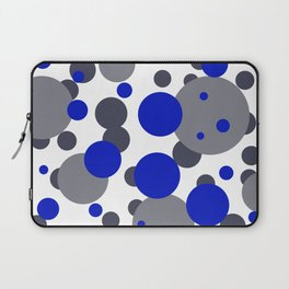 Bubbles blue grey- white design Laptop Sleeve