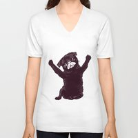 hug V-neck T-shirts featuring Hug by Huebucket