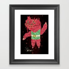 the Pig Framed Art Print