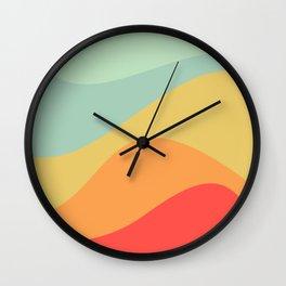 Abstract Color Waves - Bright Rainbow Wall Clock