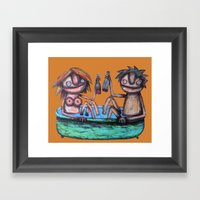 In the bath Framed Art Print