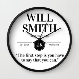 22 |  Will Smith Quotes | 190905 Wall Clock