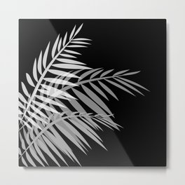 Palm leaves , black Metal Print