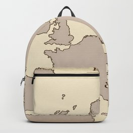 A vintage Map of Europe Backpack
