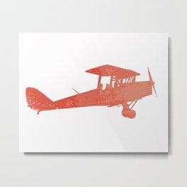 Nursery airplane wall art print Metal Print