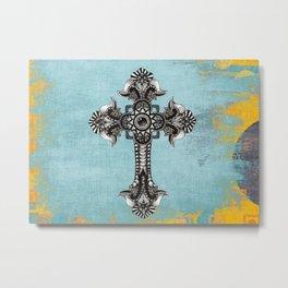 Ornate Cross Metal Print