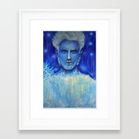 jack frost Framed Art Prints featuring 'Jack Frost' by Katja K