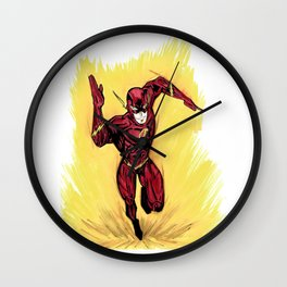 Flash. The fastest man alive Wall Clock