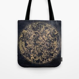 Vintage Constellations & Astrological Signs | Yellowed Ink & Cosmic Colour Tote Bag