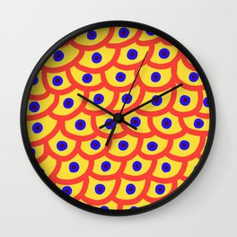 Trypophobia - Yellow Wall Clock