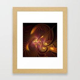Coming Home, Abstract Fantasy Fractal Art Framed Art Print