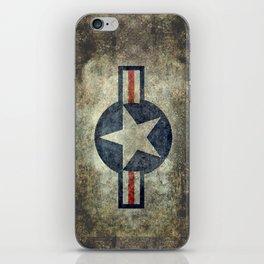 USAF vintage retro style roundel iPhone Skin
