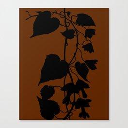 Rhodochiton in Sky Blue - Original Floral Botanical Papercut Design Canvas Print