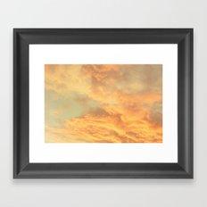 Vintage Clouds  Framed Art Print