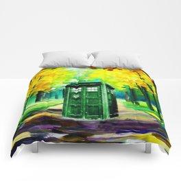 PAINTING TARDIS Comforters