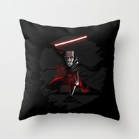 sith Throw Pillows featuring Sith Lord by Hunor L. Kovacs
