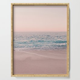 ROSEGOLD BEACH MORNING LANDSCAPE Serving Tray