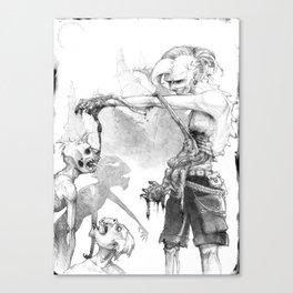 Punks Undead Canvas Print