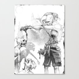 Punks Undead Canvas Print