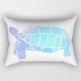 Sulcata Tortoise Silhouette (watercolor canvas) Rectangular Pillow