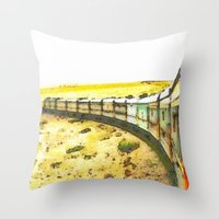 train Throw Pillows featuring Train by Mr and Mrs Quirynen