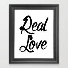 Real Love l. black Framed Art Print
