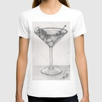 martini T-shirts featuring Addiction martini by CharlieValintyne