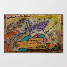 Unlock the Fear Canvas Print