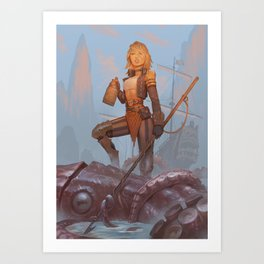 Pirate Hunter Art Print