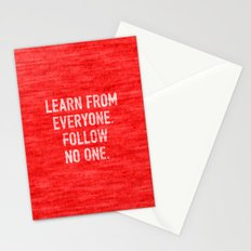 Learn from Everyone Stationery Cards