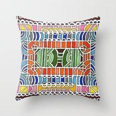 Geometric Drawing Meditation Throw Pillow