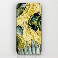 yellow water color skull iPhone & iPod Skin